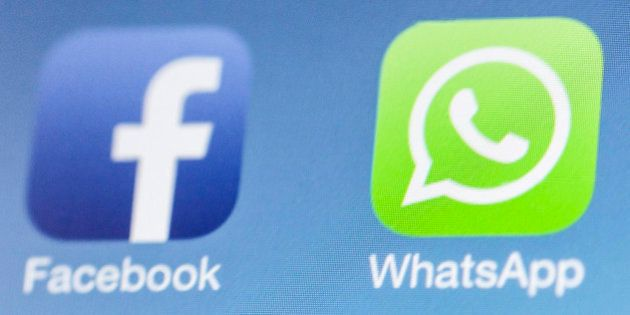 BERLIN, GERMANY - FEBRUARY 25: Facebook next to the WhatsApp logo on iPhone on February 25, 2014 in Berlin, Germany.  (Photo by Marie Waldmann/Photothek via Getty Images)