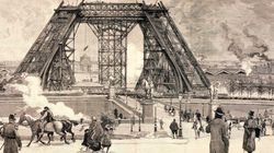 9 Vintage Illustrations From 1889 Of The Eiffel Tower Under