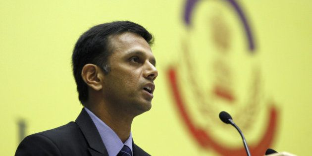 NEW DELHI, INDIA - NOVEMBER 12: Indian Cricketer Rahul Dravid speaks on Ethics and Integrity in Sports:...