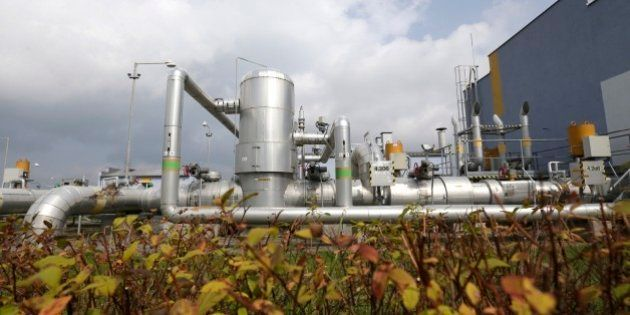 View of pipes at the facility of the RWE Gas Storage near the town of Pribram, Czech Republic, Tuesday,...