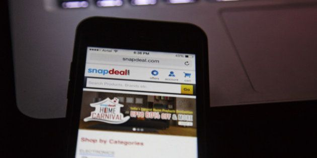 The Snapdeal.com website is displayed on an Apple Inc. Iphone in an arranged photograph in New Delhi,...