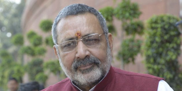 NEW DELHI,INDIA MARCH 16: Giriraj Singh Minister of State for Micro, Small and Medium Enterprises (MSME)...