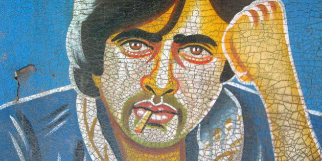 [Painted Rickshaw Mudflap] A much younger Amitabh Bachchan spotted on Ellis