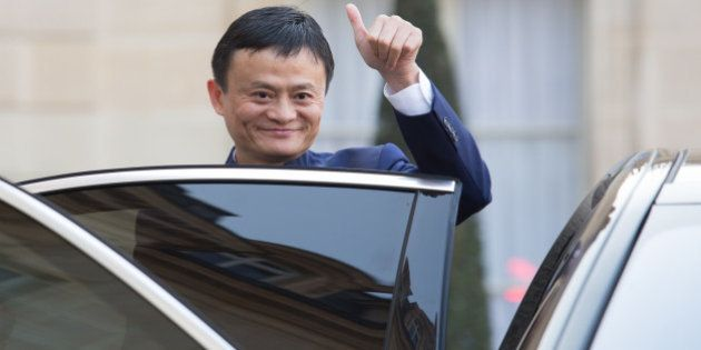 PARIS, FRANCE - 2015/03/18: Jack Ma, Chinese entrepreneur and founder of internet retail group Alibaba...