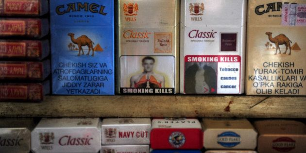 A packet of cigarettes (C), adorned with an image said to resemble that of Chelsea and England footballer...
