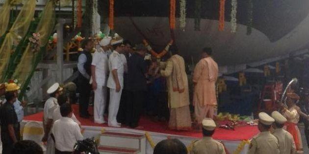 Scorpene: Indian Navy Undocks Indigenously-Built Attack Submarine In