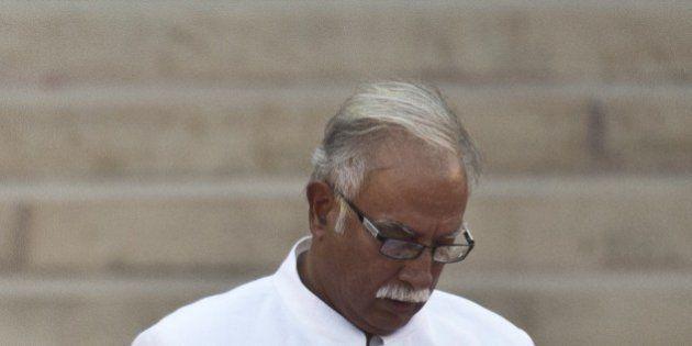 In this photograph taken on May 26, 2014, Telugu Desam Party (TDP) MP Ashok Gajapathi Raju takes the...