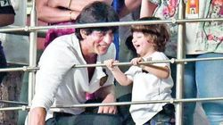 PHOTOS: Shah Rukh Khan's Little Son AbRam Watches His First IPL