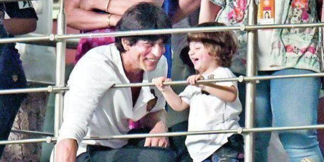 Shah Rukh Khan's Son AbRam Watches His First IPL