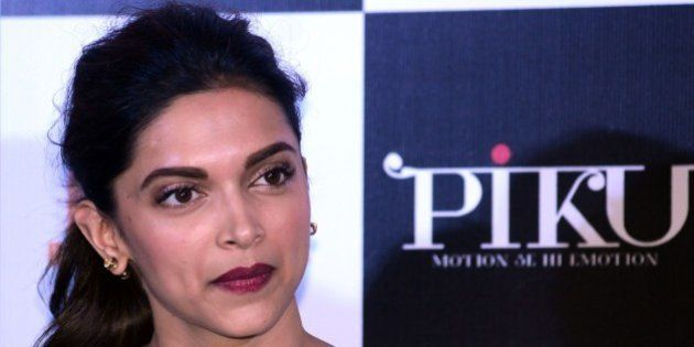 Indian Bollywood actress Deepika Padukone looks on during a promotional event for the forthcoming Hindi...