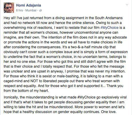 Director Of Controversial 'My Choice' Video, Homi Adjania, Finally Breaks His