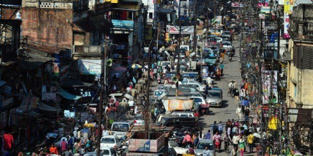 To go with story 'India-economy-urbanisation' by Trudy HARRISIn this photograph taken on March 4, 2015...