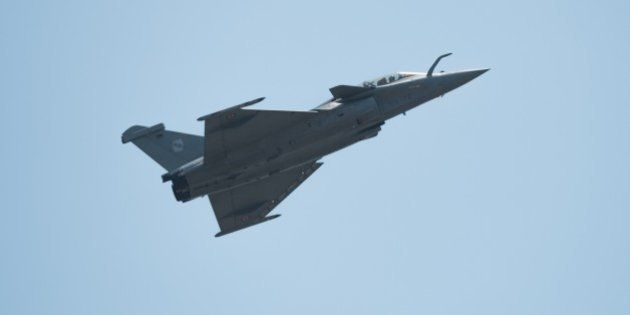 A French navy Rafale fighter jet performs during the Langkawi International Maritime and Aerospace Exhibition...