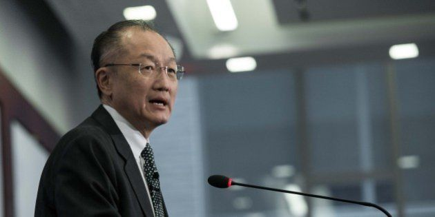 World Bank President Jim Yong Kim arrives to deliver a speech at the Center for Strategic and International...