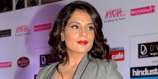 Indian Bollywood actress Richa Chadda poses as she attends the HT Mumbai's Most Stylish Awards 2015 ceremony...