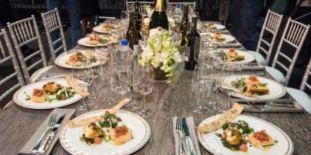 Prepared dishes appear at a table during the SAG