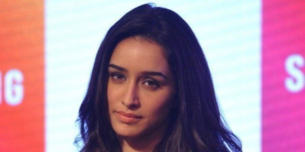 Indian Bollywood actress Shraddha Kapoor looks on during a promotional event in Mumbai on September 17,...