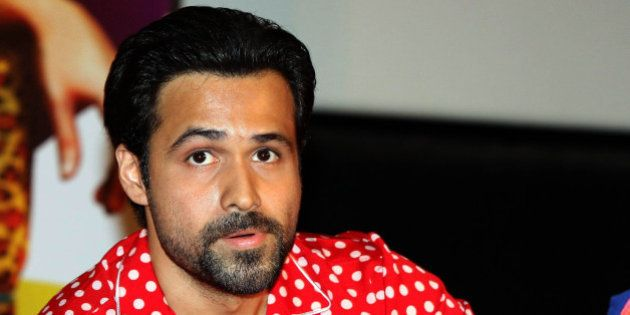 Indian Bollywood actor Emraan Hashmi poses for a photo during the promotion of upcoming comedy Hindi...