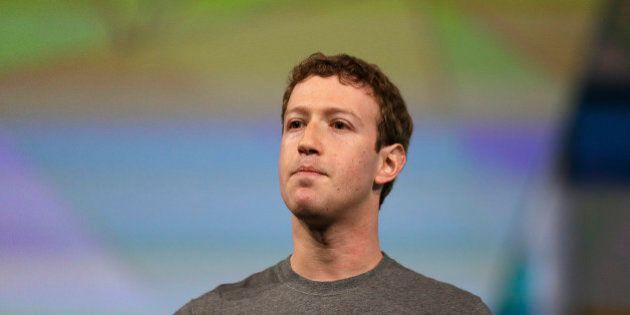 Facebook CEO Mark Zuckerberg gestures while delivering the keynote address at the f8 Facebook Developer...