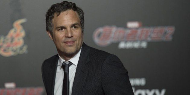 US actor Mark Ruffalo poses for a photo session to promote Marvel's 'Avengers: Age Of Ultron' in Beijing...
