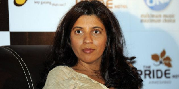Indian Bollywood director of Hindi film 'Zindagi Na Milegi Dobara' Zoya Akhtar attends a promotional...