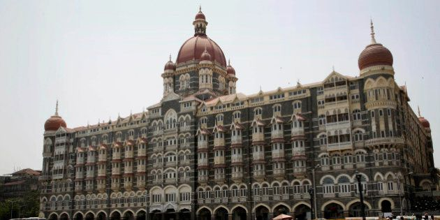 A view of the Taj Mahal hotel, which was one of the sites of the Mumbai terror attack, in Mumbai, India,...