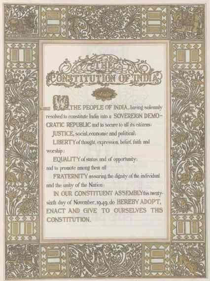 The Constitution Of India As A Work Of