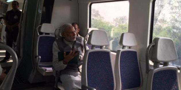 Prime Minister Narendra Modi Rides The Delhi Metro, Asks People To Rely More On Public