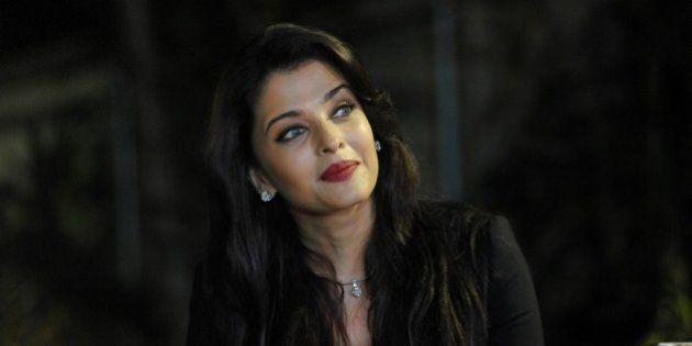 Indian Bollywood actress Aishwarya Rai Bachchan looks on during a photocall to mark her birthday in Mumbai...