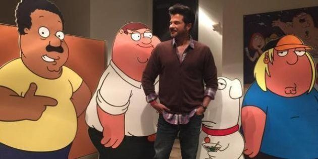 Photos: Anil Kapoor Dubs For TV Show 'Family Guy' In