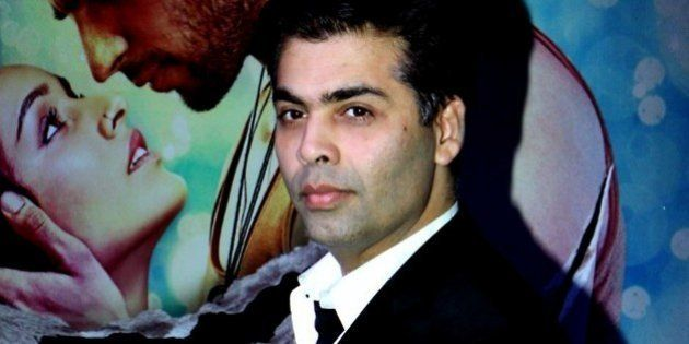 Indian Bollywood director Karan Johar poses during a success party for the Hindi film 'Ek Villain' in...