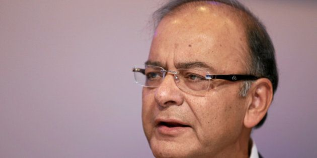 Arun Jaitley, Minister of Finance, Corporate Affairs and Information and Broadcasting of India talks...