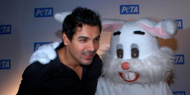 Indian Bollywood actor John Abraham attends the 'Asia�s Sexiest Vegetarian Awards' at the 10th Anniversary...