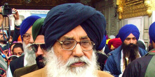 FILE - In this March 3, 2007 file photo, Parkash Singh Badal, chief minister of the Indian state of Punjab,...