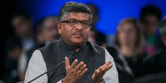 Ravi Shankar Prasad, Minister of Communications and Information Technology of India at the World Economic...