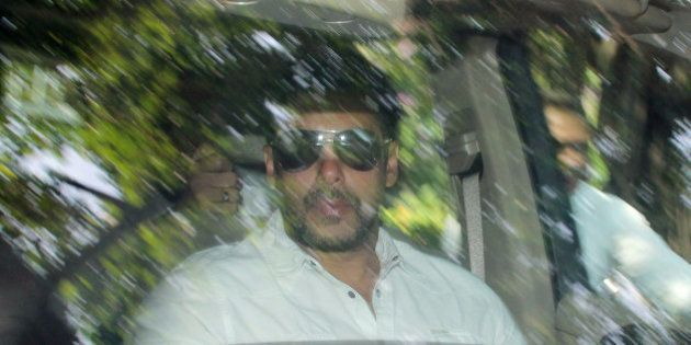 Bollywood actor Salman Khan arrives at a court in Mumbai, India, Wednesday, May 6, 2015. Media reports...