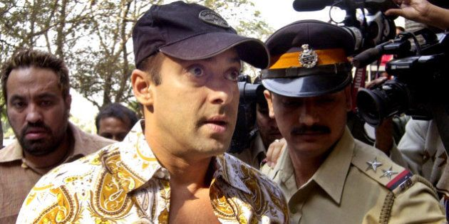 ** FILE ** Bollywood film actor Salman Khan arrives at a local court in Mumbai, India, in this Dec. 19,...