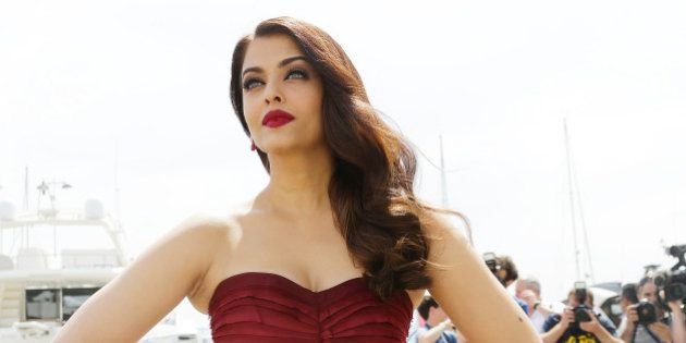 Aishwarya Rai Bachchan poses for photographs for the film Jazbaa, at the 68th international film festival,...