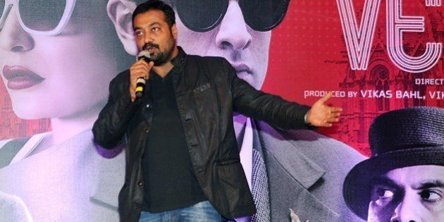 Indian Bollywood writer, director and producer Anurag Kashyap speaks during a promotional event for his...