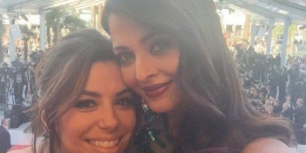 PHOTOS: Aishwarya Rai Flouts Cannes Film Festival's Unofficial Selfie Ban, Clicks One With Eva Longoria
