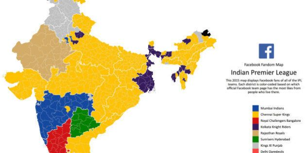 Facebook Fandom Map Reveals The Most Popular IPL Team In