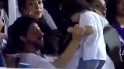 SRK Makes A Very Reluctant AbRam Dance To 'Ooh La La' At An IPL