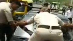 Daredevil Delhi Cop Jumps On Bonnet Of Speeding Car To Make It