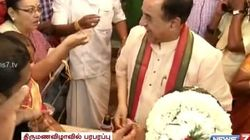 WATCH: Subramanian Swamy Goes To A Wedding To Bless The Mangalsutra; Gets Terribly