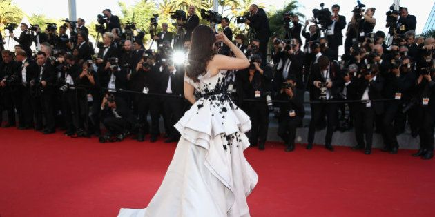 CANNES, FRANCE - MAY 20: Aishwarya Rai Bachchan attends the Premiere of 'Youth' during the 68th annual...