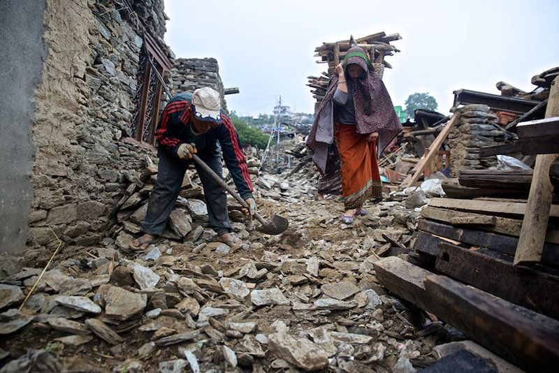 Pictures: What The Nepal Earthquake Left