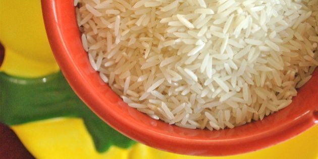 Basmati rice ready to be used in your favorite dish. I used mine in a Long-Grain Thyme