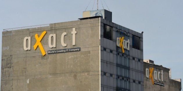 In this picture shows the building of Axact company after the raid by Federal Investigation Agency (FIA)...