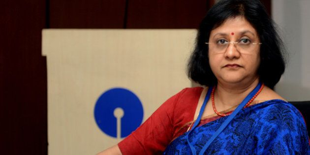 Chairperson of State Bank of India (SBI), Arundhati Bhattacharya attends the Finance Minister's meeting...