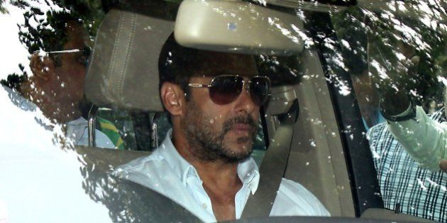 Indian Bollywood actor Salman Khan arrives at session court for hearing of the bail plea in a 2002 hit-and-run...